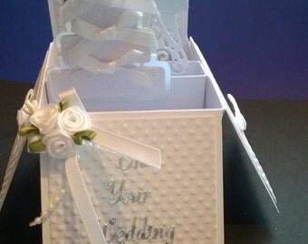 Beautiful Handmade Wedding Day Pop up Card