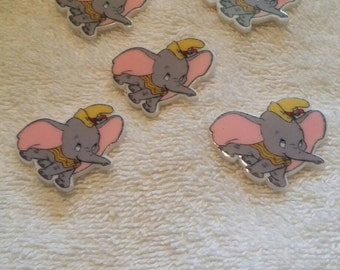 Set of 5 dumbo flat back resins