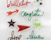 Sentiments, Road Signs Clear Stamps Scrapbooking, Card Making Supply, Transparent Stamp