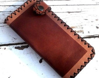 Handmade and Dyed Leather Wallet