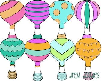 Hot Air Balloon Digital Clip Art
