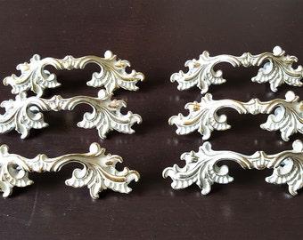 Vintage, Fancy Drawer Pulls , Dresser Handles, Drawer Handles, HANDLES, pulls,vintage pulls, vintage drawer handles,