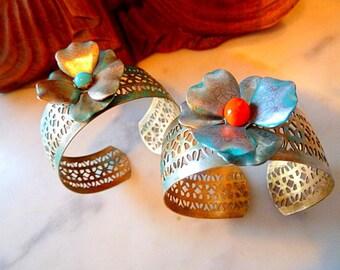 Antic-Boho collection 2016 Vintage brass Cuff Bracelet