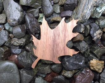 SALE Falling Oak Leaf Walnut Wood Veneer Laser Cut Sticker