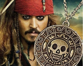 Pirates Of The Caribbean Necklace - Bronze Zinc Alloy!