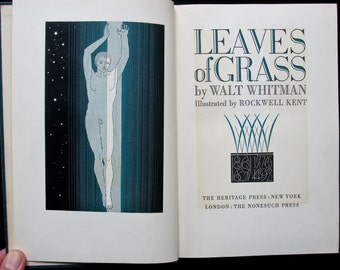 Leaves of Grass by Walt Whitman illustrated by Rockwell Kent