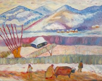 Prahova Valley -  Original oil painting on canvas