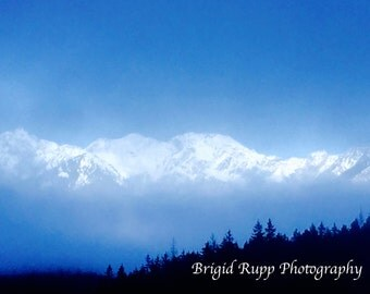 Alpine Fog; Photograph of Zugspitze in Germany