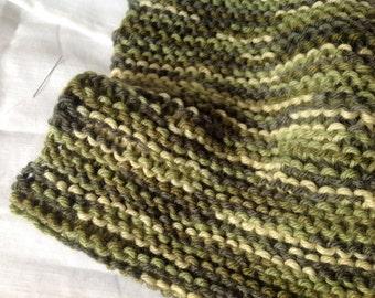 Green Wool Neckwarmer