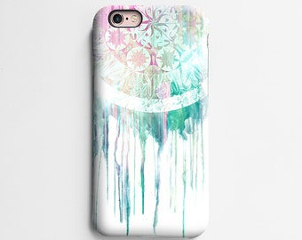 Dream catcher iPhone 7 case, iPhone 6s case, iPhone 6 plus case, iPhone 6s Plus case, iPhone 5s case, SE case, tough case, white mint T675
