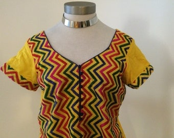 Colorful Embroidered Tunic - Small