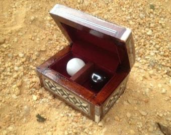 Urim & Thummim Spheres in Mother of Pearl Box