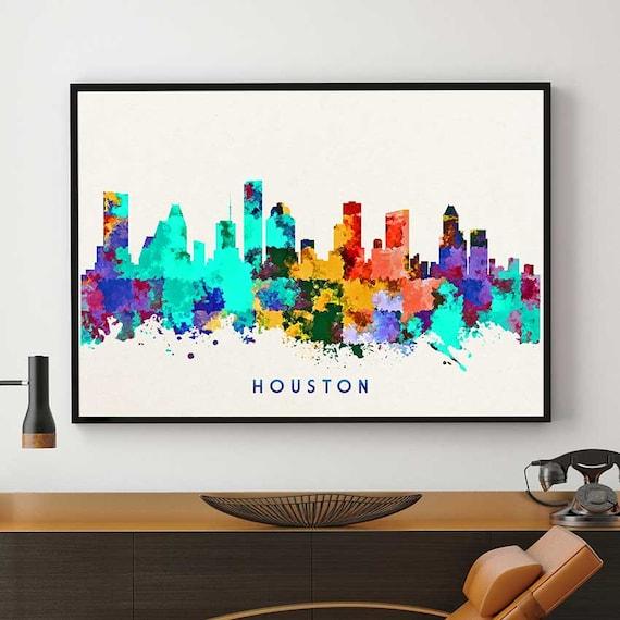 Skylines Houston Decor Home Decor Nursery Wall Art N146