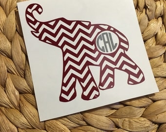 Alabama Roll Tide Monogram Vinyl Decal