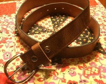 Leather Belt - Amish Handmade - Antiqued