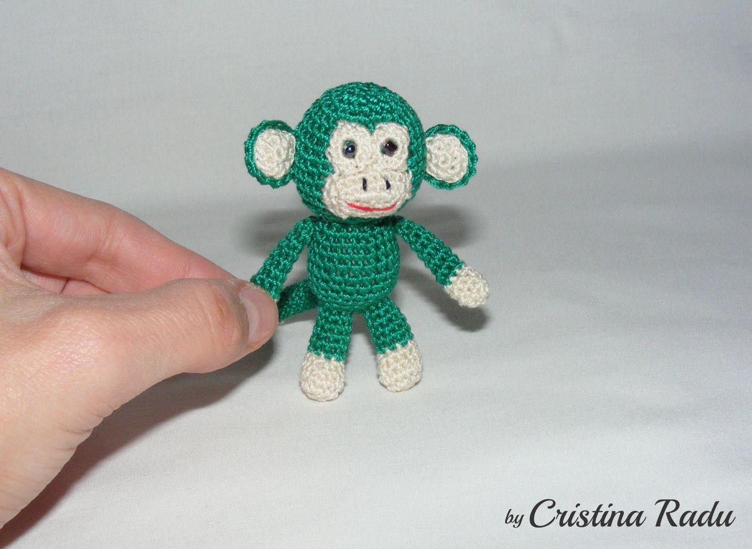 Amigurumi Monkey Keychain : Keychain Monkey crochet Monkey Amigurumi by cutetoysbycristina