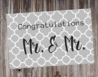 Gay Wedding Card, Gay Wedding, Gay Congratulations, Mr Gay Marriage, Gay Marriage, Gay Men Marriage Card, Gay Men Marriage Congratulation