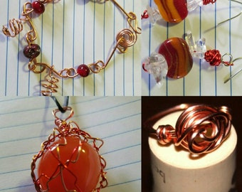 Assorted wire wrapped jewerly