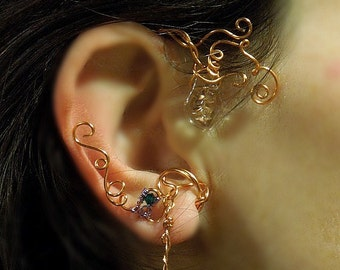 Elvish right earhook copper woman or girl
