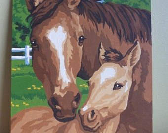 Paint by numbers Horses Completed paint