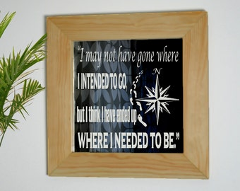 Quote Mirror, Nautical Mirror, Footsteps In The Sand, Framed Mirror, Decorative Mirror, Mirror Sign, Wanderlust, Laser Etched Mirror