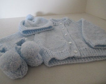 baby blue sweater set for infants