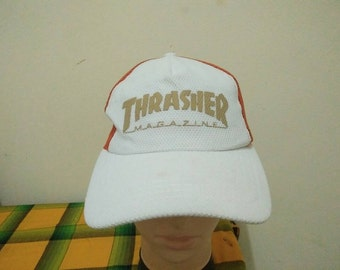 Rare Vintage THRASHER MAGAZINE Cap Hat Free size fit all