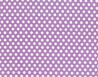 Kiss Dot Purple  - HALF YARD - Michael Miller - Cotton Fabric - Quilting Fabric