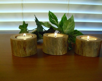 Accent Tea Candle Holder-Reclaimed Wood-Centerpiece-Bedroom Décor-Living Room Décor-Dining Room Décor-Holiday Décor-Tea Lights-Easter