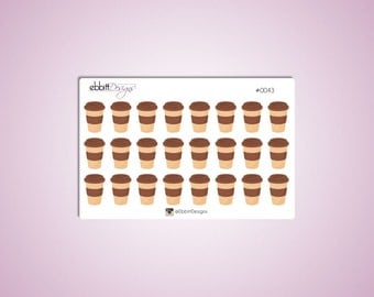 Coffee Cups To Go Planner Stickers {0043}