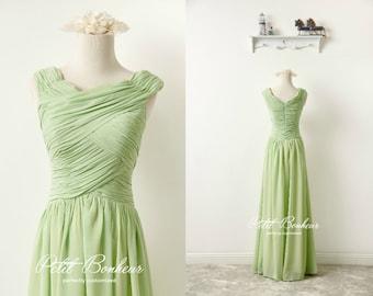 Green prom dress, green bridesmaid dress, custom dresses, Long Formal dress, mother of the bride dress, evening dress, maxi dress