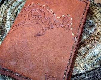Kangaroo leather passport wallet made to order