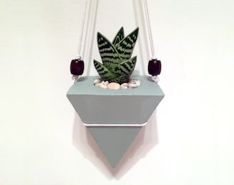 Hanging Pyramid Concrete Planter