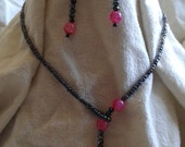 Pink and Black Faux Laria...