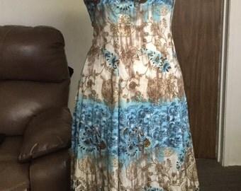 Floral Blue Summer Dress