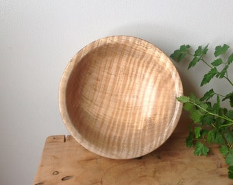 Curly maple bowl
