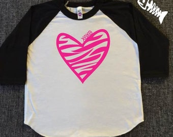 Toddler Boy, raglan, baseball tee, toddler girl, trendy boy, tshirts, Zebra, Zebra heart, valentines day shirts