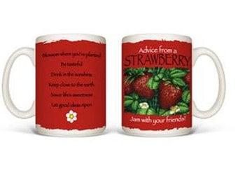 Advice from a STRAWBERRY ceramic mug