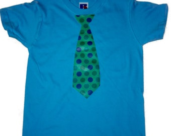 Boys T-Shirt with Necktie logo    FREE SHIPPING within UK