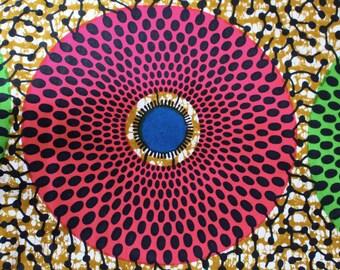 Ankara - African Wax Print Fabric - 6 yards