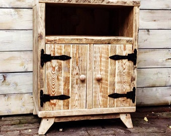Rustic HIFI unit/ Media console unit/ rustic cupboard