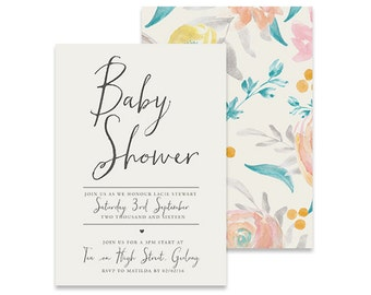 Printable Baby Shower Invitation | Forever Yours - Petal Printable DIY Invite, Affordable Invitation, Digital Invite, Baby Shower Printable