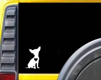 Chihuahua Little Heart Dog Decal Sticker *J601*