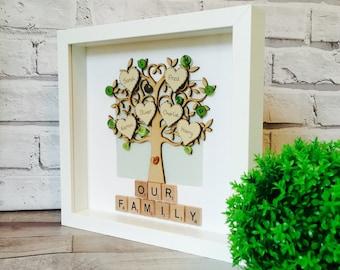 Family Tree Frame, Personalised Family Tree Gift Frame, Family Tree Gift, Family Picture Frame, Family Gift, Personalised Family Tree Gift