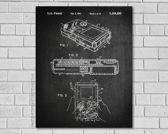 Gameboy Patent Print - Video Game Patent - Game Boy Patent - Game Boy Poster -  Nintendo Game Boy - Video Game Art - Game Boy Decor EG830