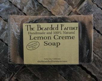 Lemon Creme Natural Soap - The Bearded Farmer