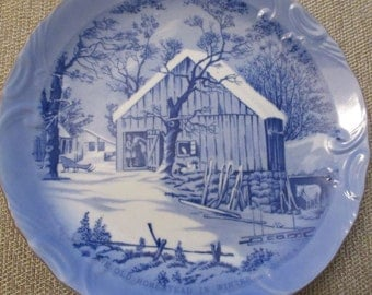"Currier & Ives ""The Old Homestead In Winter"" Decorative Plate 8"""