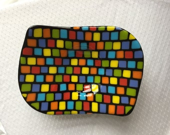 Festive and Fun Colorful Fused Glass Bowl