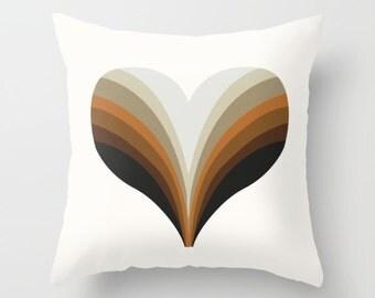 70s Love heart mod throw pillow, cushions