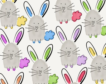 Multicoloured Easter bunny card
